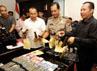 Polisi juga mengamankan barang bukti berupa uang, senjata api, handphone dan emas.