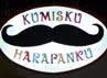 Dibawah logo yang bertuliskan Kumisku Harapanku ada gambar Monas, gedung bertingkat, jembatan layang, mobil dan kereta.