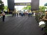 Kapolda Sulselbar Irjen Mudji Waluyo disambut secara militer di Markas Kodam VII Wirabuana, Makassar. (M Nur Abdurrahman/detikNews).