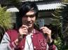 Irwan berpose saat ditemui di Studio RCTI, Kebon Jeruk, Jakarta Barat, Selasa (19/6/2012). Gus Mun/detikcom.