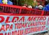 Aliansi Mahasiswa Jakarta Untuk Keadilan (AMJAK ) demo ke Mapolda Metro Jaya, Jumat (29/6/2012).