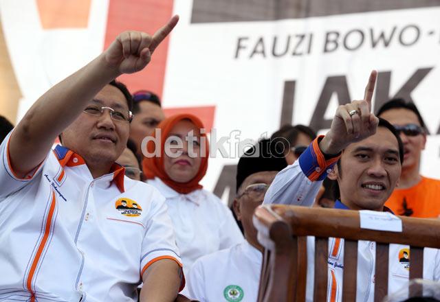 Anas dan Ibas Hadiri Kampanye Foke-Nara