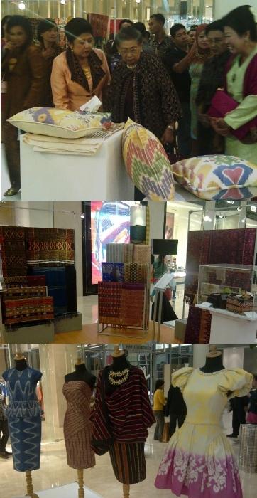 Koleksi Tenun Ani Yudhoyono Dipamerkan di Senayan City
