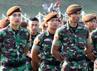 Para Taruna Akademi TNI dan Polri saat mengikuti Apel Kesiapan Pembentukan Satuan Tugas Taruna di lapangan Sapta Marga Akademi Militer Magelang, Jawa Tengah, Minggu (8/7/2012). (Puspen TNI).