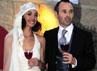 Andres Iniesta resmi menikahi Anna Ortiz. AFP/Josep Lago.