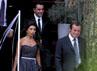 Presiden Barcelona Sandro Rossel dan Xavi Hernandez juga hadir. AFP/Josep Lago.