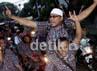 Pendukung Jokowi-Ahok berkonvoi menuju markas pemenangan Jokowi di Jl Borobudur, Jakarta Pusat.