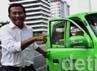 Meski sempat mengalami masalah ketika di kawasan Jl. Thamrin, Jakarta, Menteri BUMN Dahlan Iskan yang menggunakan kendaraan listrik Ahmadi akhirnya sampai di kantor BPPT di Thamrin, Jakarta.