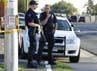 Puluhan polisi telah berada di lokasi untuk melakukan pengamanan. Sebanyak 14 orang dan puluhan lainnya luka-luka dalam peristiwa tersebut. Reuters/Jason Hatfield.
