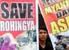 Massa juga mendesak pemerintah Myanmar membuka blokade militer, politik dan ekonomi kepada minoritas Rohingnya.