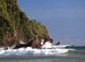 Ombak besar di pantai yang berada di Teluk Pancer ini disukai para penggemar olahraga surfing atau selancar. Di waktu-waktu tertentu banyak wisatawan asing yang berselancar.