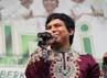 Wali saat tampil di acara acara Road Show Wali Cari Berkah Ayo Sedekah di Masjid Pondok Indah, Jakarta, Rabu (1/8/2012).