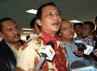 Soemarmo memberikan keterangan pers usai menjalani sidang vonis di Pengadilan Tipikor, Jakarta. (Ramses/detikcom).