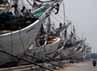 Kapal-kapal yang biasanya mengirim barang ke sejumlah daerah di Indonsesia bersandar di Pelabuhan Sunda Kelapa, Jakarta.