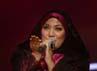 Penyanyi asal Malaysia Shila Amzah turut meriahkan konser 'Ekspresi Karya Gemilang'.