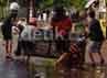 Bentrokan baru berhenti sekitar pukul 09.30 Wita, saat dua truk yang mengangkut sekompi personel Pasukan Pengendali Massa dari Polrestabes datang ke lokasi kejadian dan menengahi dua kelompok yang bertikai.