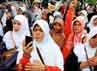 Massa HTI menyerukan kepada pemerintah agar menolak rencana pembangunan gedung baru Kedubes AS.