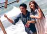 Kemesraan Bella dan Billy saat syuting video klip di Pantai Anyer, Jawa Barat, beberapa waktu lalu.
