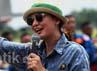 Luna Maya saat ditemui di Halim Perdanakusuma, Jakarta Timur, Minggu (7/4/2013). Gus Mun/detikHOT.