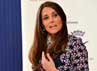 Kate Middleton sempat memberikan pidato singkatnya tentang masalah kecanduan terhadap narkoba dan alkohol. REUTERS/Paul Ellis/POOL.