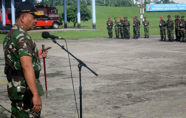 Direktur Latihan Cek Pasukan Pelaku Latgabma Malindo