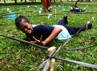Para peserta PPLB Nas 2013 mengikuti berbagai kegiatan pramuka di Bumi Perkemahan Pramuka Cibubur, Jakarta Timur. Grandyos Zafna/detikFoto.