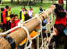 Acara untuk para anak berkebutuhan khusus ini diikuti oleh 530 pramuka dari 17 kwartir daerah dari seluruh Indonesia. Grandyos Zafna/detikFoto.