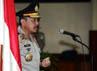 Kapolri Jenderal Timur Pradopo memimpin upacara kenaikan pangkat 17 perwira tinggi Polri.