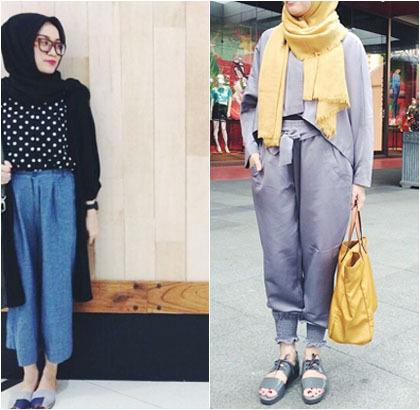Hijab Style Tampil Santai Untuk Liburan Ala Adetya Herdini