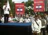 Ketua Ikatan Dai Indonesia (Ikadi) Muhammad Soleh Drehem menyampaikan orasinya.