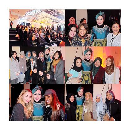 Foto: Suasana Saat Dian Pelangi Berikan Tutorial Hijab di London, Inggris 1
