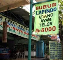 Bubur Ayam Lapindo Rp 6.000