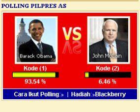 Desi Menangi Blackberry Polling Presiden AS
