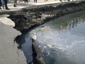 Kerugian Jalan RE Martadinata Ambrol Rp 2,8 Miliar