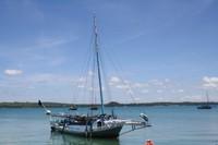 Kapal Nelayan di Pantai di Desa Papela Pulau Rote