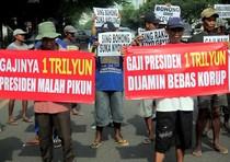 Aksi Dukung Gaji Presiden Naik