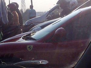 Ferrari Terjebak Macet Jakarta
