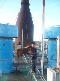 Di atas kapal PLTD Apung I