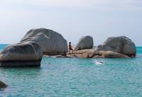 Pantai Marangbulo, salah satu pantai di Pulau Seliu Belitung
