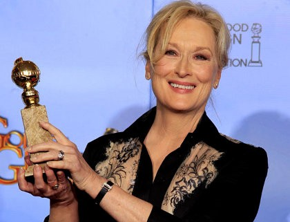 Meryl Streep \The Iron Lady\, Aktris Terbaik Golden Globe 2012