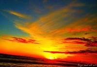 Cantiknya Sunset pantai Goa Cemara