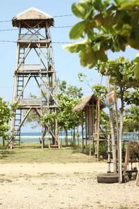 Pondok Febi, salah satu spot asyik di Pantai Cibuaya