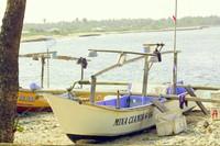 Perahu nelayan di Pantai Cibuaya