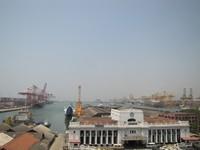 Pemandangan Pelabuhan Colombo dari Resto Harbour Room (Foto: Fitraya/detikTravel)