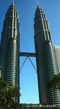 Twin Tower Petronas di siang hari