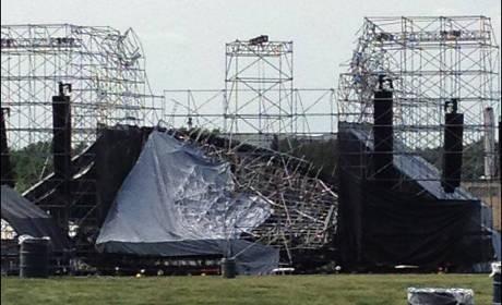 Panggung Radiohead Rubuh Saat Kru Sedang Sound Check