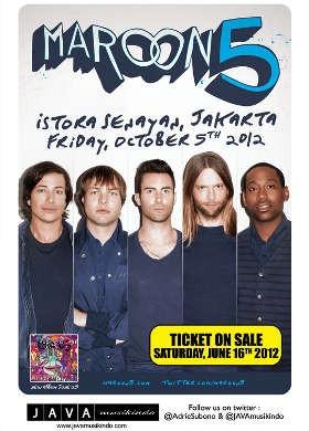 Maroon 5 Tambah Satu Hari Konser di Jakarta