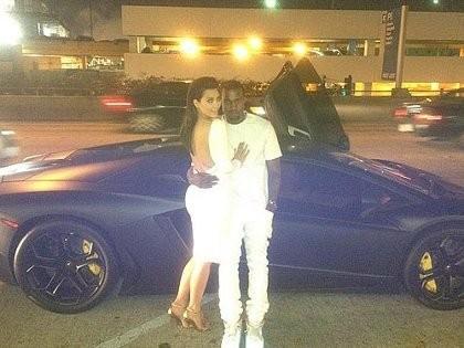 Kim Kardashian-Kanye West Pamer Lamborghini