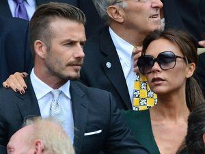 Victoria & David Beckham di Wimbledon