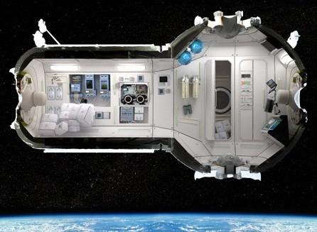 Gambar rencana hotel luar angkasa (toxel.com)